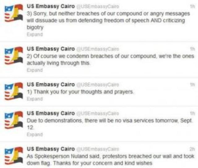 Us-Embassy-Cairo_Tweets-On-Mob-Attack