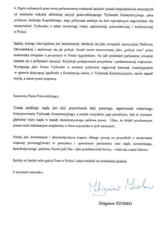 List Ziobro str. 3