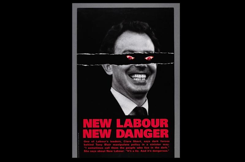 Conservative Party Poster - New Labour New Danger 1997 Election smaller file size